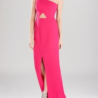 BCBGMAXAZRIA Gown - Kauri One-Shoulder Cutout | Bloomingdales's