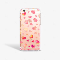 iPhone 6 Plus Case Clear Hearts iPhone 6s Plus Case TPU iPhone 6 Plus Clear Hearts iPhone Case iPhone 6 Case Hearts iPhone Case Samsung S6