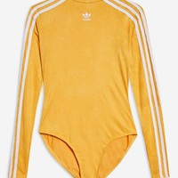 Three Stripe Suede Bodysuit by adidas - Bodysuits - Clothing