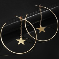 Fashion Simple Hoop Earrings For Women  Sexy Personalized Gift Jewelry