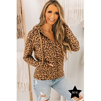Chasin' That Feeling Leopard Zipper Hoodie (Leopard)