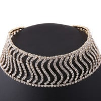 Necklace with S curve personality female neck chain clavicular chain