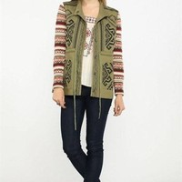 Meet me in The Mountains Olive Anorak Jacket !