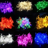 10M 100 LED Outdoor Holiday Christmas Decorative Wedding xmas Home String Fairy Garlands Strip Party Lights LEEDSUN