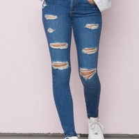Tuscan Blue High Waist Jegging