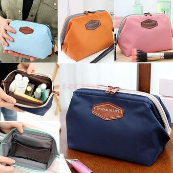 Women's Travel Makeup bag Cosmetic pouch Clutch Handbag Casual Purse SV002470