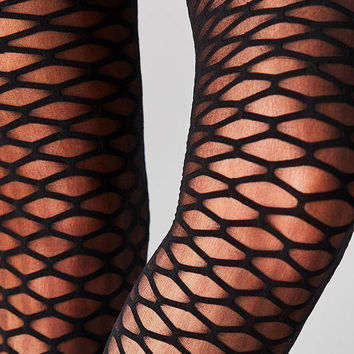 Out From Under Exploded Fishnet Tight - Urban Outfitters
