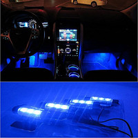 Docooler® 12V 12 LED Car Auto Interior Atmosphere Lights Decoration Lamp - Blue