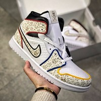 The Shoe Surgeon x Air Jordan 1 Day of the Dead AJ1 high-top built-in Air Sole air cushion sneakers shoes