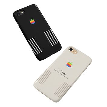 Retro Apple Logo Vintage iPhone Case Black / White