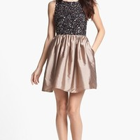 Adrianna Papell Embellished Bodice Fit & Flare Dress | Nordstrom