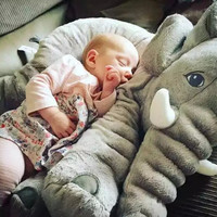24-in Elephant Baby Sleeping Lounging Pillow for Kids