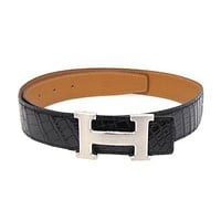 [Free Shipping] [Pre-Owned] Auth Hermes H belt #:25000780