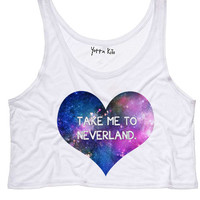 Take Me To Neverland Crop Tank Top