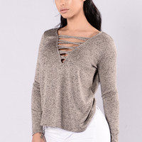 Fawn Sweater - Taupe