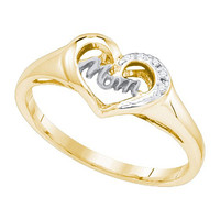Diamond Mom Ring in Sterling Silver 0.02 ctw