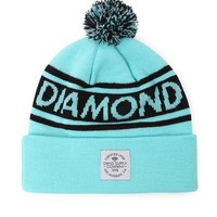 Diamond Supply Co Diamond Blue Lifer Pom Beanie - Mens Hats - Green - One