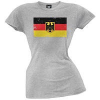 World Cup Germany Distressed Flag Juniors T-Shirt