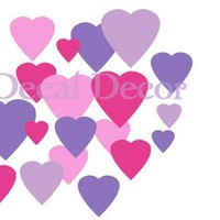 216 Hearts Wall Decals