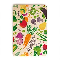Lucie Rice EAT YOUR FRUITS AND VEGGIES Cutting Board Rectangle
