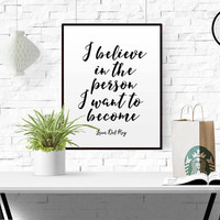 Lana Del Rey Quote Vinyl Wall Decal Sticker Art Song Lyrics Believe in yourself Wall art Inspirational print Home decor Typographic print