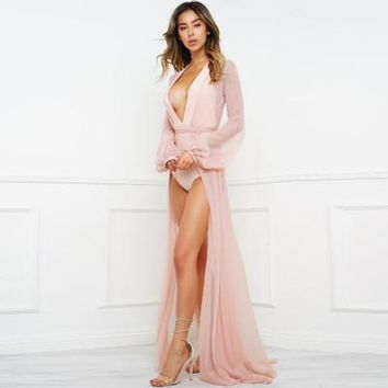 see-through meshed sexy  one-piece dress  a13869