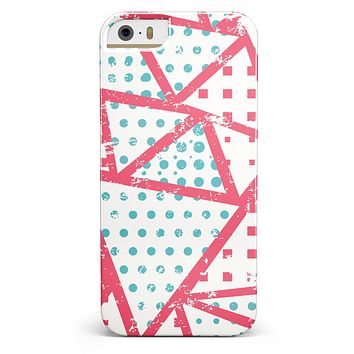 Abstract Red and Teal Overlaps iPhone 5/5s or SE INK-Fuzed Case