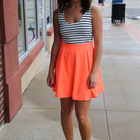 Take You Downtown Dress {Hot Coral}