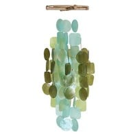 Capiz Shell Windchime - Turquoise & Green
