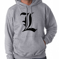 L Death Note Manga Anime Pullover Hoodie