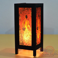 Thai Vintage House Furniture Decoration The Monk Table Lantern Bedroom Lighting Home Decorate Lamp