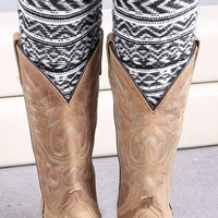 Cupshe Wave Knitting Boot Cuffs
