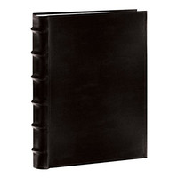 "Pioneer Sewn Bonded Leather BookBound Bi-Directional Photo Album, Holds 300 4x6"" Photos, 3 Per Page. Color: Black."