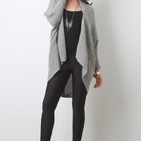High Low Casual Knit Cardigan