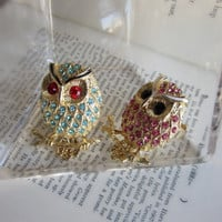 Pree Brulee - Hoot Ring (available in turquoise or pink)
