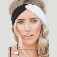 Twist Turban Headband for Women Stretch Hairbands Sport Headbands Yoga Head Wrap Head Band Bandana Girls Hair Accessories A0399