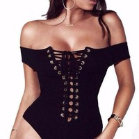 Lillian Lace Up Bodysuit