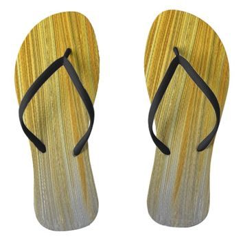 Gold and Silver Flip Flops