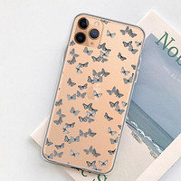 Minimalist Butterfly Clear Phone Case