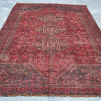 6.8 x 9.2 Best Shirazi Antique Hand Woven Area Rug, Home decoration, Carpet, Rug, Article A511