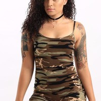 Camo Short Jumpsuit