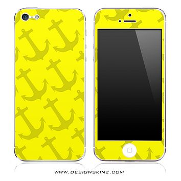 Yellow Anchor Bundle iPhone Skin