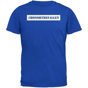 Memorial Day Hashtag Honor the Fallen Royal Adult T-Shirt