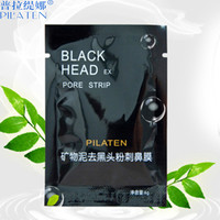 black mask blackhead remover face mask lot set Tearing style Deep Cleansing purifying peel off Black head pore strips 6p