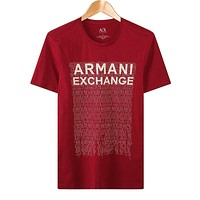 Armani Woman Men Fashion Casual Letter Shirt Top Tee