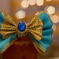 Disney Inspired Princess Jasmine Disneybound Hair Bow