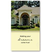 Luxury Home Entrance Real Estate Business Card 3 from Zazzle.com