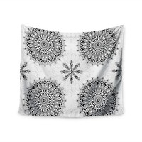 KESS InHouse Julia Grifol 'Black Mandala' White Black 51x60-inch Tapestry | Overstock.com Shopping - The Best Deals on Tapestries