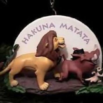 Simba, Pumbaa and Timon Disney The Lion King 1995 Hallmark Keepsake Ornaments