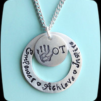 OT COTA Gift, Occupational Therapy Staff, Rehab Office Professional Jewelry Necklace, Occupational Therapy Gift